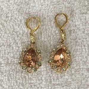 Givenchy Gold-tone Pearl-Shaped Halo Earrings
